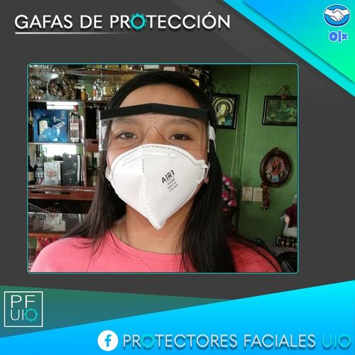 trajes de bioseguridad, protectores faciales, mascarillas