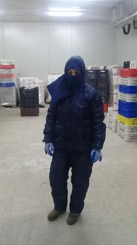 trajes de congelación para cavas y túnel de congelación