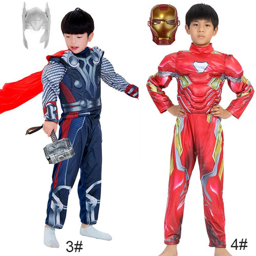trajes de cosplay avengers araña - hombre para niños