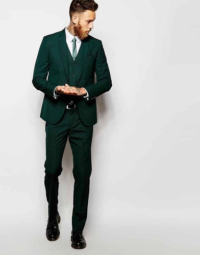 trajes de novio modernos slim fit 2018