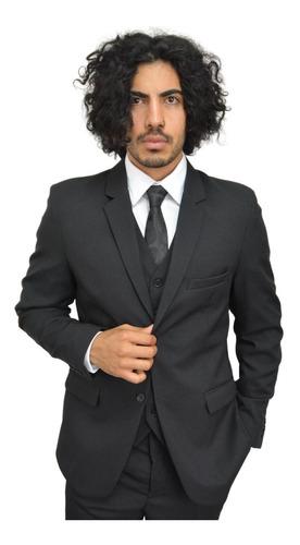 trajes hombre con chaleco slim fit marca fratelo mod, 2551