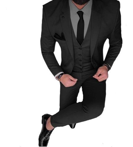 trajes hombre entallados con chaleco y pantalon chupin