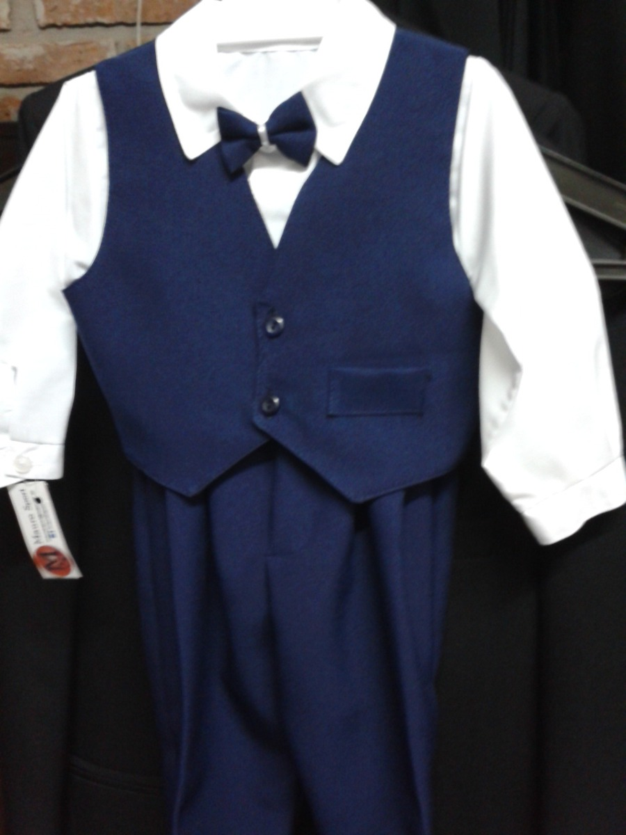 5969ffbd0 Trajes Kids 4 Piezas (camisa+moño+chaleco+pantalòn) Bautismo -   495 ...