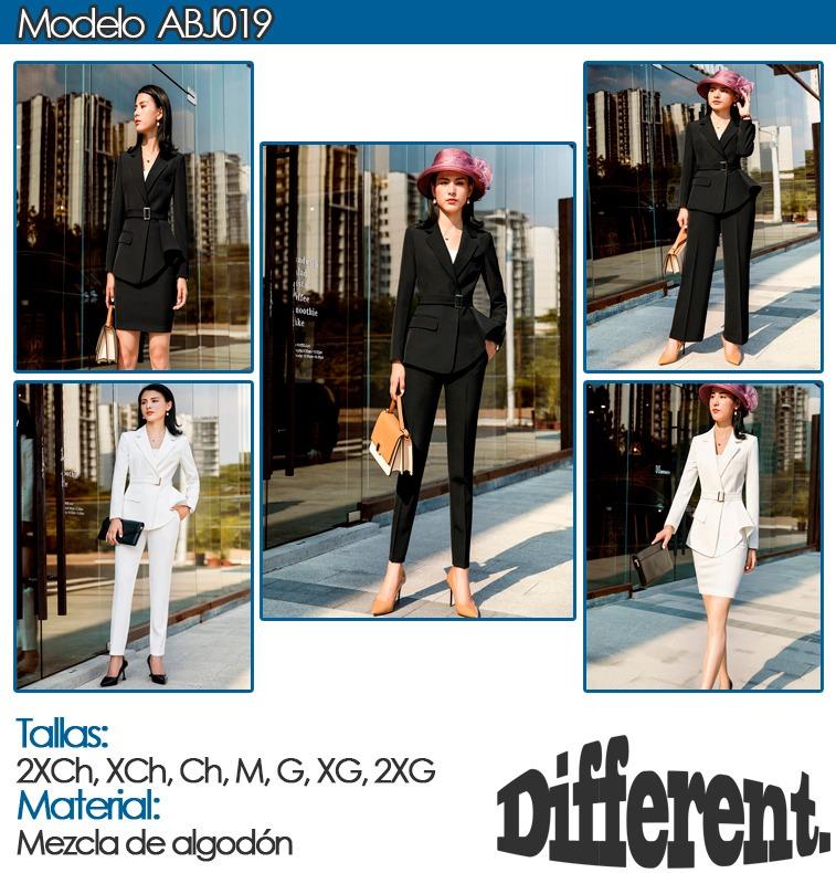 Trajes Mujer Moda Ejecutiva Blazer + Falda Silueta Sensual - U S ... 851c0daf71a