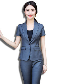 ea24d70909 Trajes Para Dama Blazer + Pantalón Slim Fit Formal Tendencia