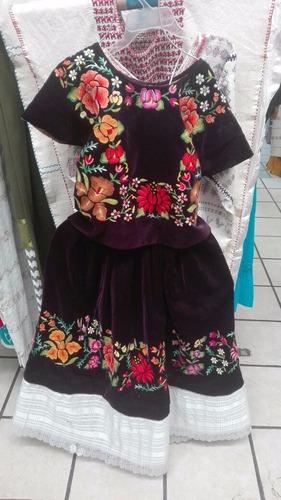 trajes regionales de oaxaca  terciopelo gancho morado