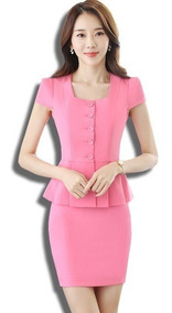 varios tipos de procesos de tintura meticulosos mejor mayorista Trajes Sastre Mujer Saco Blazer + Falda Silueta Sexy Juvenil
