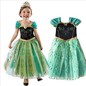 Trajesanna Traje Frozen Inspirado Coronación Vestido De