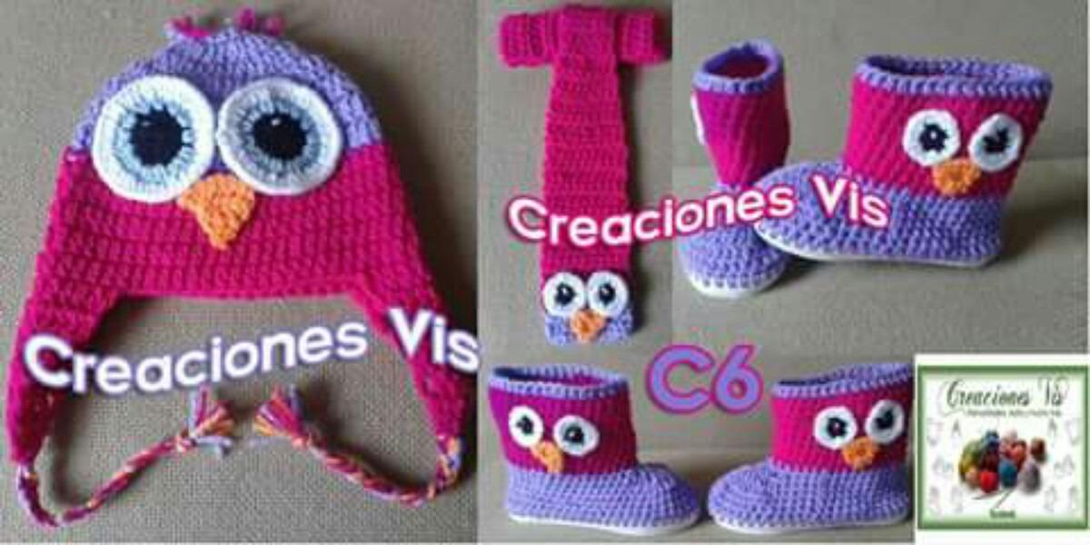 59ef61d80 Trajesitos De Búho Tejidos En Crochet Gorro