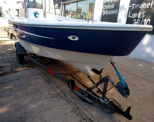 trakker 520 pescador con yamaha 40hp power trim