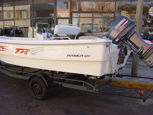 trakker 520 pescador con yamaha 60hp 2 tiempos full renosto