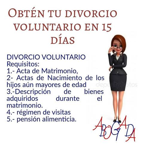 trámite de divorcio voluntario