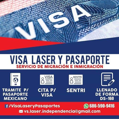 tramite de visa láser  y pasaporte mexicano