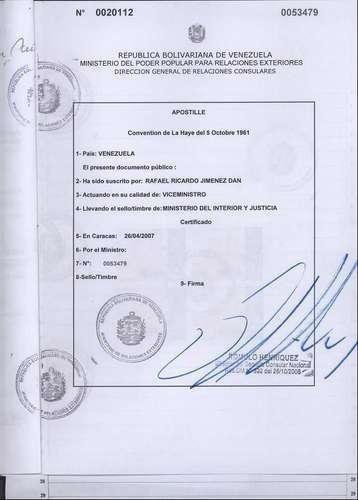 trámites legales/contables venezuela. prof responsables