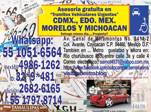 tramites vehiculares urgentes, asesoria gratuita