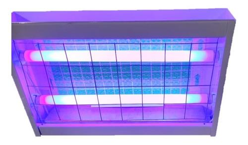 trampa de luz atrapa moscas de 2 tubos ecológica