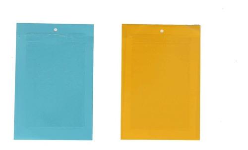 trampa insectos 2 unidades amarilla + azul 20x25cm