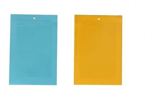 trampa para insectos x6 (3 amarillas + 3 azules) 20x25cm