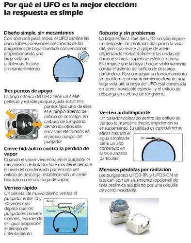 trampa para vapor balde esferico invertido tlv ufo3bn-16 3/4