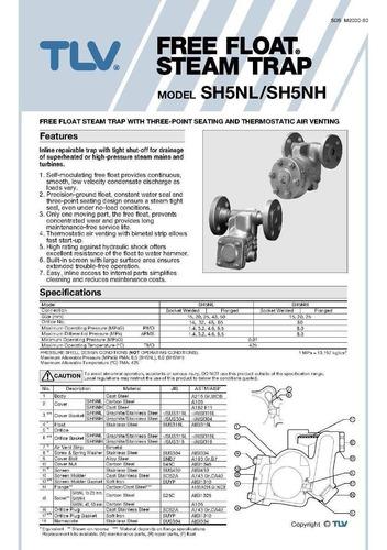 trampa para vapor tlv sh5nl-46 3/4 pulg bridas 600rf