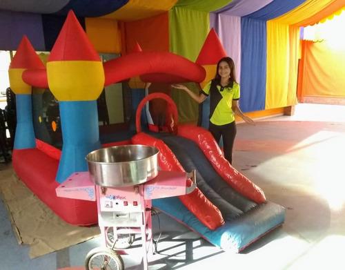 trampolin animacion inflable cotufas algodon cepillado