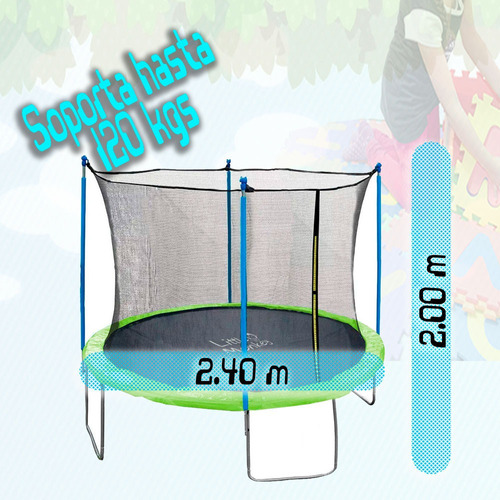 trampolin brincolin 8 pies infantil 2.4m tumbling tomblin