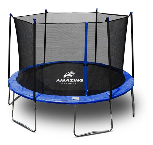 trampolín brincolín con red 3.65 mts (12ft) amazing fitness®