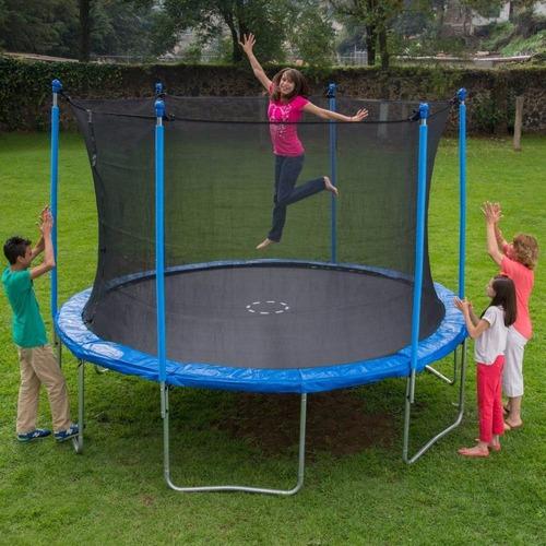 trampolin brincolin grande con red mas de 3.65 metros nuevo