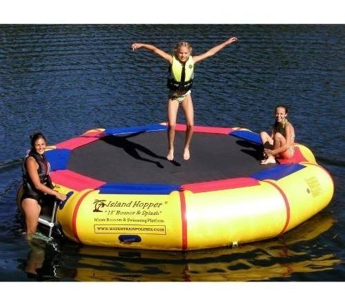 trampolin inflable aquatico isla   piscinas lagos mar