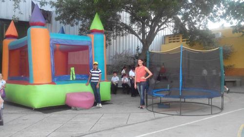 trampolin inflable hot dog sillas animacion payasitas cepil