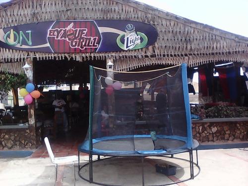 trampolin inflable mesa sillas animacion payasitas cepillado