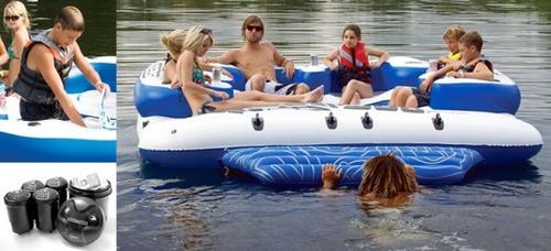 trampolin isla flotante sea doo inflable  aquatica lagos mar