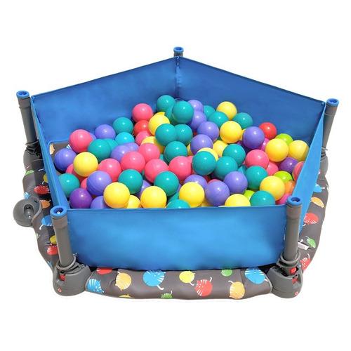 trampolin para niños con alberca de pelotas smartrike