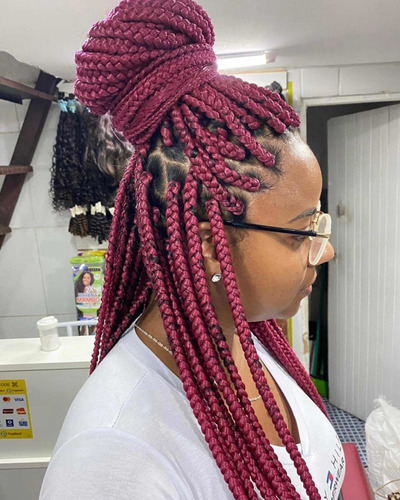 tranças box. braids