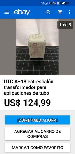 Tranformador Utc A18 Usa