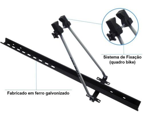transbike de teto universal projecar aço p/ 1 bike bagageiro