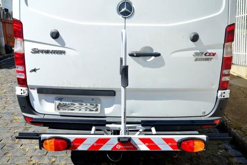 transbike suporte 2 bicicletas altmayer com sinalizador