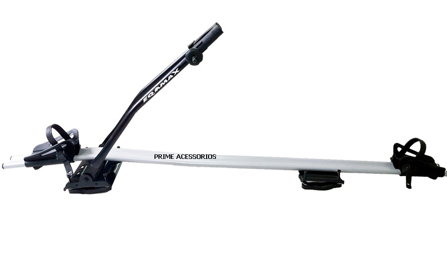 6ef4d1aef Transbike Teto S-alumínio Eqmax 1 Bike Prata Lançamento - R  430