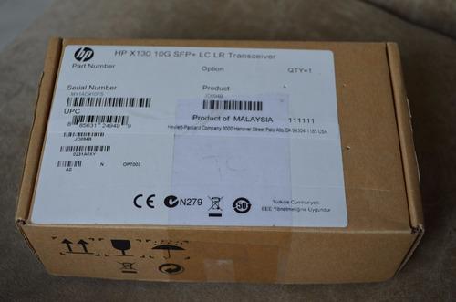 transceiver hp x130 10g sfp+ lc lr jd094b monomodo