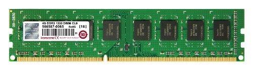 transcend jetram 4 gb 240-pin ddr3 desktop dimm 1333 mhz (pc