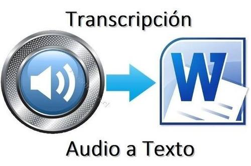 transcripciones de audio o vídeo a texto