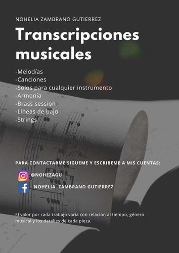 transcripciones musicales