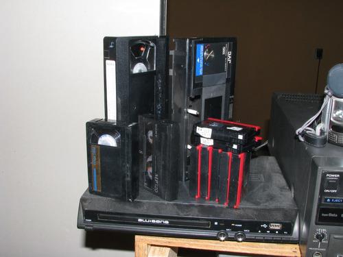 transfer  a dvd  y blue ray  de  cintas  vhs, beta, 8 mm,