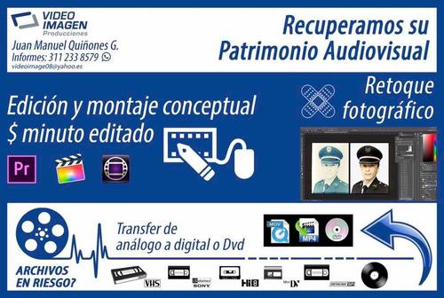 transfer de análogo a digital o dvd y edición de video