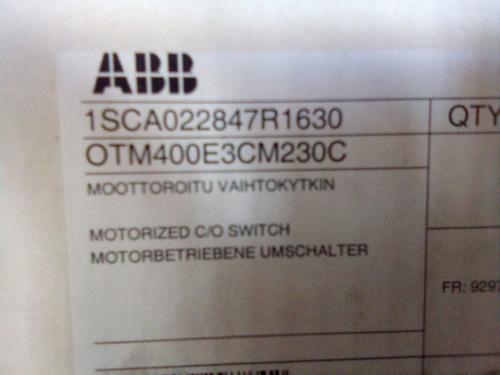 transferencia   automatica  motorizada  abb  de  400amp