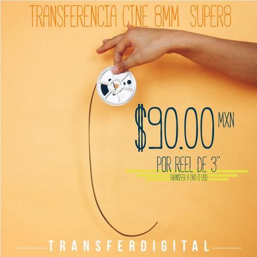 transferencia de rollos de cine de 8mm y super8 a dvd usb