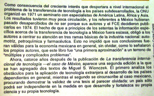 transferencia internacional de tecnologia caso méxico jorge