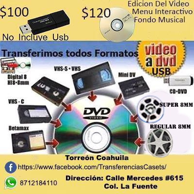 transferencias de cintas de audio y video a formato digital