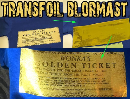 transfoil blormast foil textil transfer dorado plata fluo +