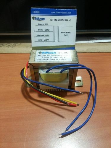 transformador 110v 208v 240v a 24 voltios para a/a 40vac